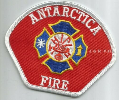 """Antarctica  Fire Dept.  (4"""" x 3.25"""" size)  fire patch"""
