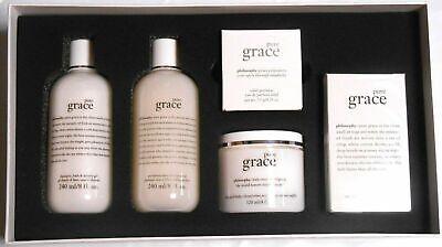 Philosophy Pure Grace 5 Pc Gift Set Perfume Shower Gel Body Scrub Cream