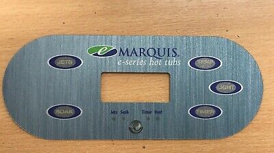 Marquis Spa decal label overlay E Series top panel hot tub button sticker
