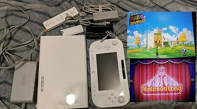 Nintendo Wii U 8GB White Console Mario 3D World Nintendo Land Wii Remote