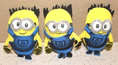 MINION DESPICABLE ME BIRTHDAY PARTY SUPPLY OR DECORATION FOAM FIGURES 10 PACK - Foam Figures