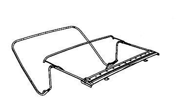 (jeep tj soft top hardware frame bracket braket bow assembly 97-06 1997-2006 used)