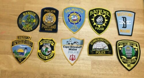 LOT OF 10 DIFFERENT MAINE SHOULDER PATCHES  R050