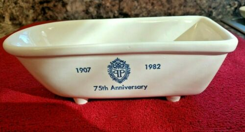 "Vintage ""The Plaza"" Hotel New York 75th Anniversary 1982 Bathtub Soap Dish"