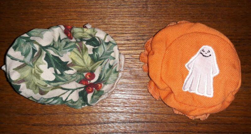Longaberger Canning Jar Bonnet Cover Christmas & Halloween