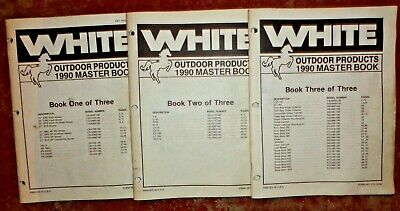White L-8 Thru Lt-145 Lawn Garden Tractor Master Parts Catalog Books Original