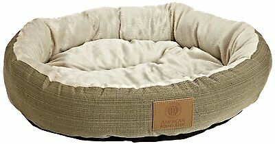 Dog Round Bed Pet Pillow Sage Kennel Pad Soft Cushion Sleeping Puppy House