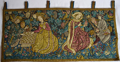 ART TAPESTRY WALL HANGING FRENCH / BELGIAN STYLE ROYAL COURT (Scene Wall Tapestry)
