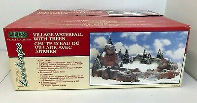 Lemax Christmas Village Landscape Display Platform with Waterfall and Trees ()