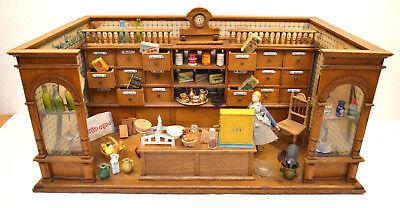 Uralter Kaufmannsladen Puppenkaufladen mit Zubehör um 1900 /1578