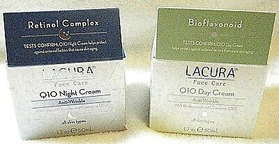 LACURA Q10 Anti Wrinkle 1 Face Day & 1 Night Cream Q10  1.7 oz Each **SHIPS FREE Anti Wrinkle Night Cream