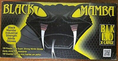 X-large Black Mamba Gloves 100 Per Box Disposable Nitrile Mechanic Glovehvac