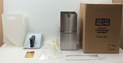 New Server Express 1 Pump Rectangular Stainless Steel Condiment Dispenser 07020