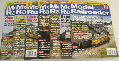 2008 Model Railroader Magazine  - 7 Issues