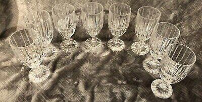 8 MIKASA PARK LANE CRYSTAL ICE TEA/WATER GOBLETS GLASSES 7-3/8