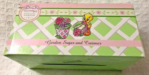 New Vintage Warner Bros. Looney Tunes Tweety Bird Garden Cream & Sugar Boxed Set