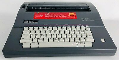 Smith Corona Electronic Typewriter Sl-575 With Keyboard Cover