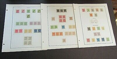 MACAU/MOZAMBIQUE - FINE COLLECTION OF EARLY FOURNIER FORGERIES ON ORIGINAL PAGE