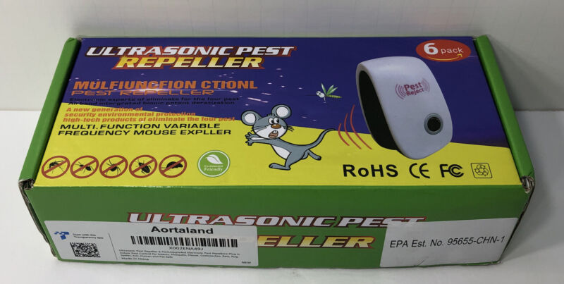 (6 Pack) Ultrasonic Mosquito, Rat, Roach, Insect Pest Repeller New In Box