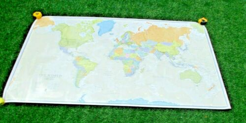 "Maps International  THE WORLD  Classic Political 77"" x 46"" Wall Map"
