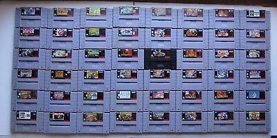 Super Nintendo Snes Authentic Clean Tested Mario Yoshi Donkey Kong   You Pick