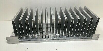 Large Finned Aluminum Heat Sink 9 X 4 X 2.5 From Sony Receiver