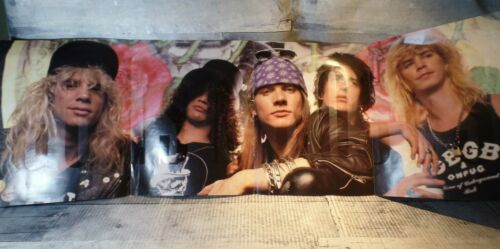RARE GUNS N ROSES Appetite for Destruction Record Promo Ad fold open Poster