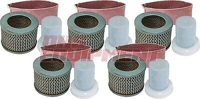 Stihl Ts350 Ts510 Ts760 Non-oem Old Style Air Filter Set 5 Pack - 4201-140-1801