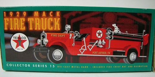 ERTL 1929 TEXACO MACK DIE CAST COLLECTOR SERIES 15 TOY BANK FIRE TRUCK F415 1998