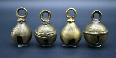 Group of 4 antique Near Eastern brass bells