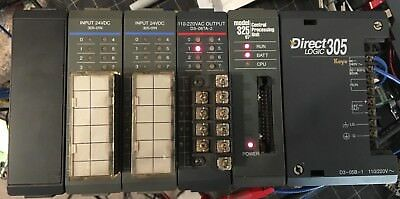 Direct Logic 305 D3-05b-01 325 07 Cpu D3-08ta-2 305-01n Siement Ti Plc Sys