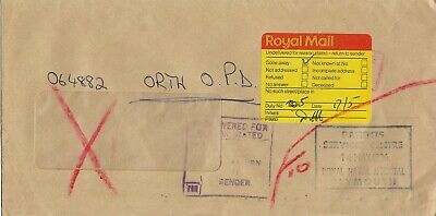 UNDELIVERED FOR REASON GONE AWAY CACHET ON 1986 COVER MY REF 36