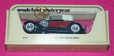 Matchbox Models of Yesteryear Straw Box 1930 Packard Victoria Y-13