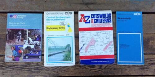 Lot of 4 Misc UK Maps & Related