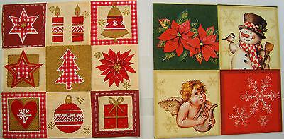 2 sets paper napkins Christmas tree ornaments,bell serviette,33cm-2pcs,decoupage ()