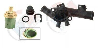 00-05 VOLKSWAGEN BEETLE 2.0L Coolant Hose Flange Housing w/ Gasket -Sensor Kit Hose Flange Kit