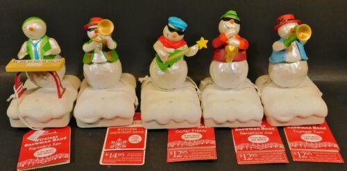 Hallmark 2010 Wireless Snowman Band Set of 5 Tom Tony Ken Freddy Joe