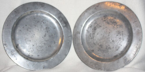 Netherlands Early 19th Century Matching Pair of Pewter Plates w/Marks