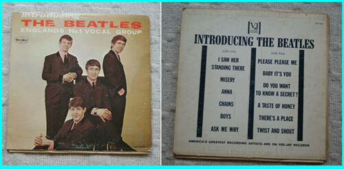 """BEATLES VJ LP 1062 """"INTRODUCING THE BEATLES"""" MONO Ver. #3 TITLES on BACK br"""
