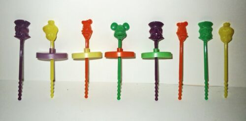 Rare 1960s Disney Lot ICE CREAM PUSH UP POPS  - MICKEY MOUSE TINKER BELL DONALD