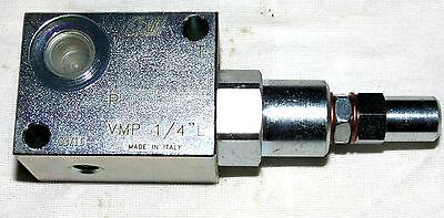 Hydraulik Druckbegrenzungsventil  G 1/4 25 lt/min, einstellbereich 10 - 200 bar