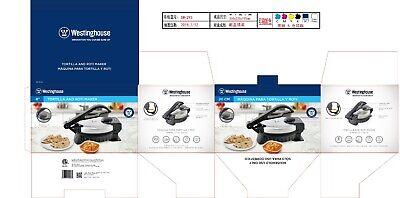 Westinghouse Electric Non-Stick Roti /Tortilla Maker with Temperature Control