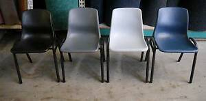New Swan Poly Steel Stacking Lunch Room Site Chairs Melbourne CBD Melbourne City Preview