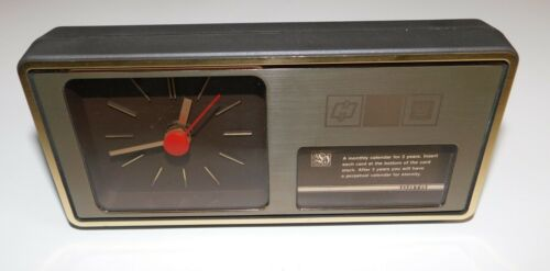 Vintage GM General Motors Advertising Desk Clock Calendar Aachen Germany