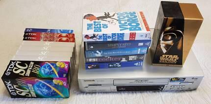 Panasonic VCR 6 Head HIFi + tapes