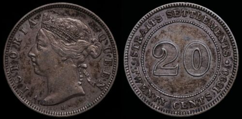 1890 Straits Settlements 20 Cents - KM# 12
