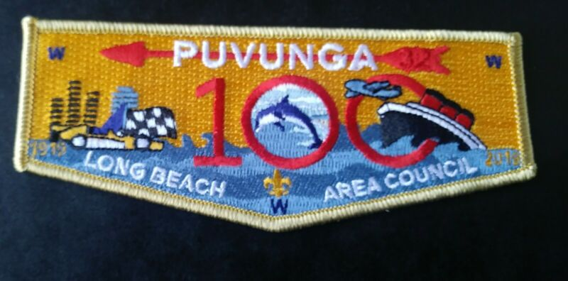 OA Puvunga Lodge 32.. 2019 Long Beach Area Council 100th Anniversary Flap