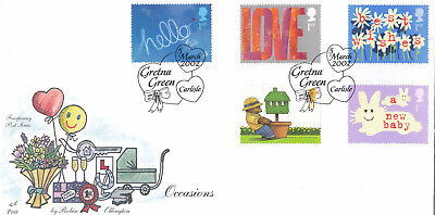 (17564) GB Fourpenny Post FDC Occasions Gretna Green 5 March 2002