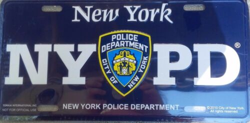 NYPD BLUE LICENSE PLATE CITY OF NEW YORK POLICE DEPARTMENT