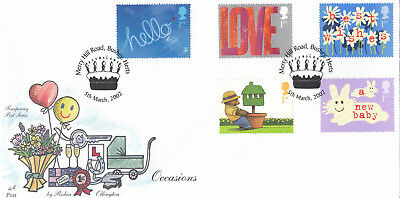 (17552) GB Fourpenny Post FDC Occasions Merry Hill Rd Bushey 5 March 2002